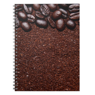Coffee Beans - Java Bean Customized Templates Spiral Notebook