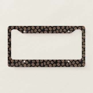 Coffee Beans Pattern Licence Plate Frame