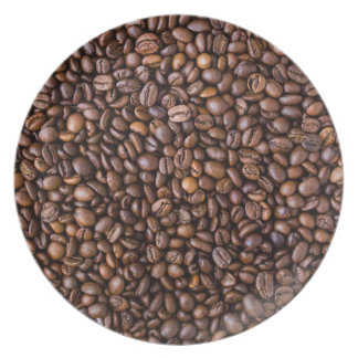 Coffee beans pattern plate