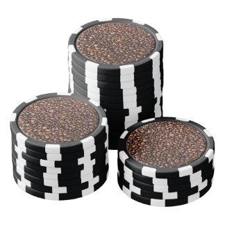 Coffee beans pattern poker chips
