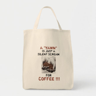 Coffee Beans Photo with Customisable Joke Text Tote Bag