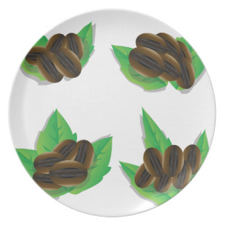 coffee beans plate