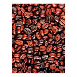 Coffee beans postcard