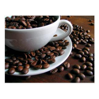 Coffee beans print postcard
