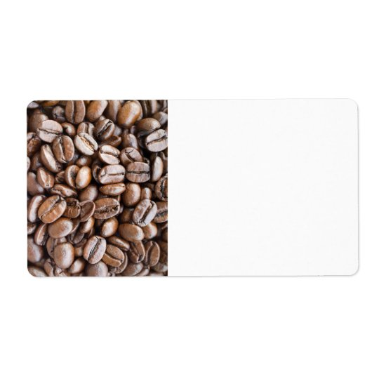 Coffee beans shipping label