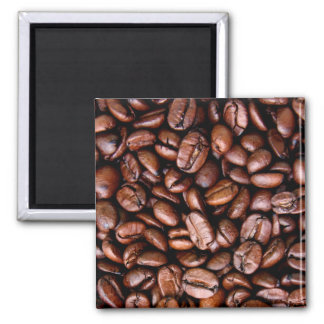 Coffee Beans Square Magnet