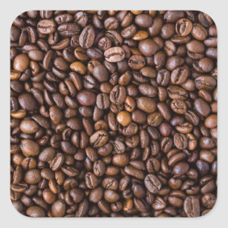 Coffee beans! square sticker