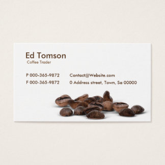 Coffee Beans Trader Business Card