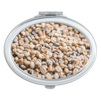 Coffee beans travel mirror