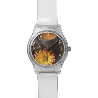 Coffee Beans & Yellow Daisy Watch