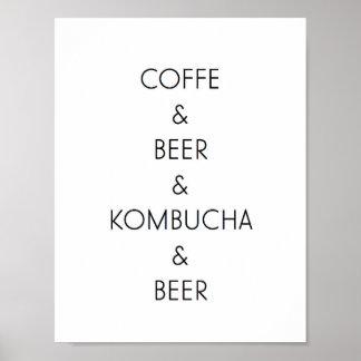 Coffee, Beer, Kombucha Print
