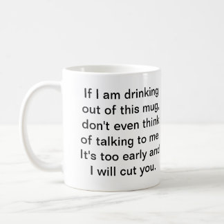 Coffee Before Safe Conversation Coffee Mug