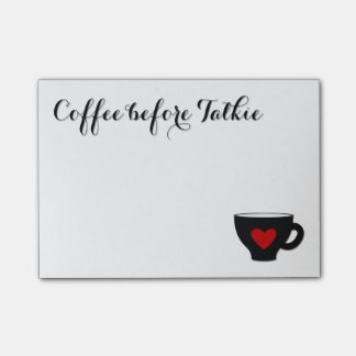 Coffee before Talkie Coffee Addict mug heart Post-it Notes