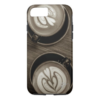 Coffee Between Friends Sepia Unique Modern Trendy iPhone 8/7 Case