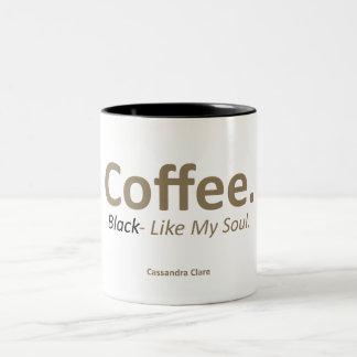 Coffee, Black 11 oz Two Tone Funny Mug
