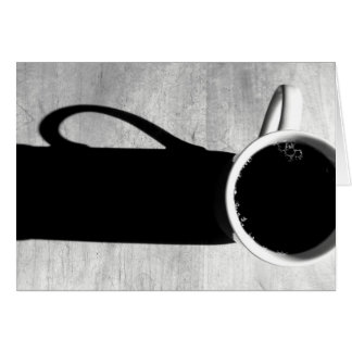 Coffee Black and White Card