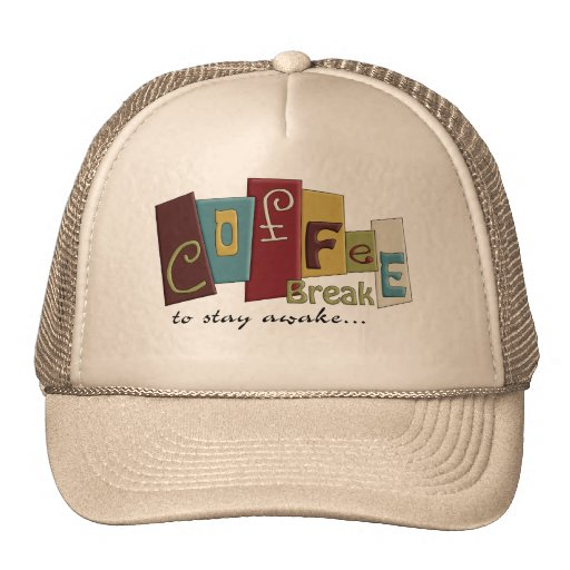 Coffee Break Design Mesh Hats
