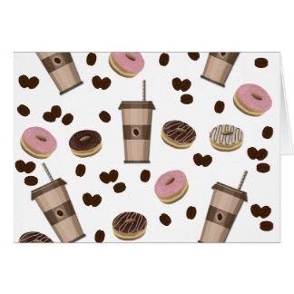 Coffee break pattern card