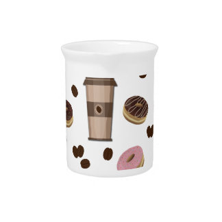 Coffee break pattern pitcher