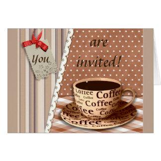 COFFEE BREAK, VINTAGE BREAK TIME COFFEE CUP CARD
