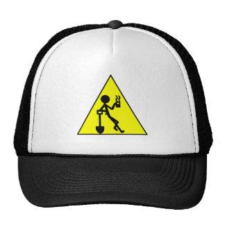 Coffee Break Warning Sign Trucker Hats
