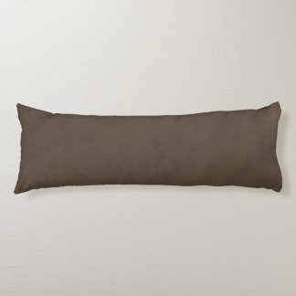 Coffee Brown Color Velvet Leather Look Body Cushion