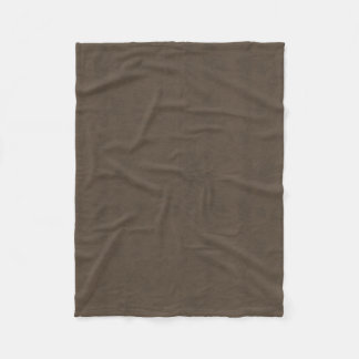 Coffee Brown Color Walnut Velvet Leather Look Fleece Blanket