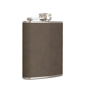 Coffee Brown Velvet Personalized Home Casino Hip Flask