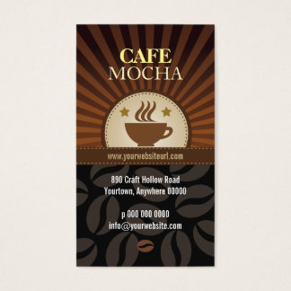 Coffee Burst Cafe Loyalty Business Card