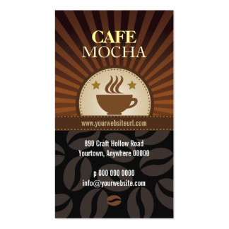 Coffee Burst Cafe Loyalty Pack Of Standard Business Cards