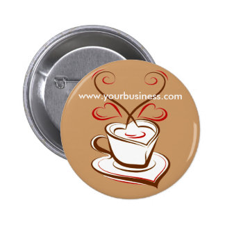Coffee business advertising promotional button