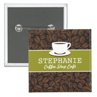 Coffee Café Shop Custom Employee Name Badge