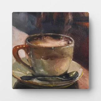 Coffee Cafe Style Art Plaque with Easel