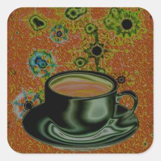 Coffee / Caffeine / Java Junky Square Sticker