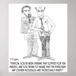 Coffee Cartoon 0044 Poster