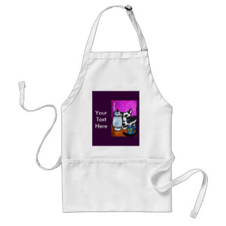 Coffee Cat and Pot Standard Apron