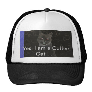 Coffee Cat - CricketDiane Art Cat Products Cap