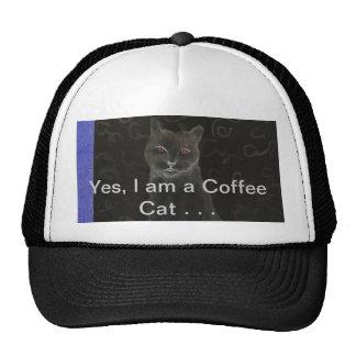 Coffee Cat - CricketDiane Art Cat Products Cap