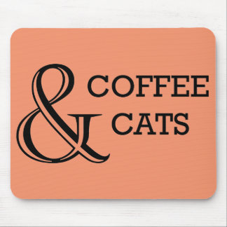 Coffee & Cats Mouse Pad