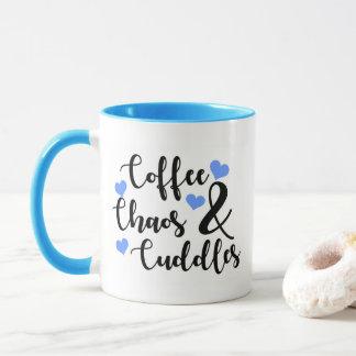 Coffee Chaos & Cuddles - blue Mug