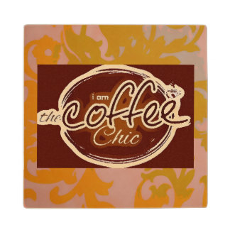 COFFEE CHIC WOODEN COASTER WOOD COASTER
