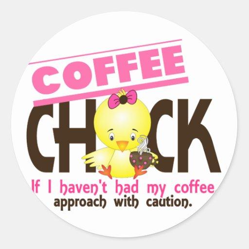 Coffee Chick 1 Sticker