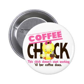 Coffee Chick 3 6 Cm Round Badge