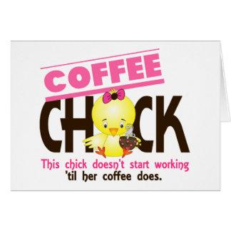 Coffee Chick 3 Greeting Card