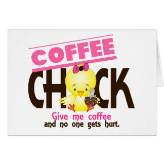 Coffee Chick 4 Greeting Card