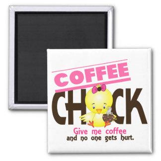 Coffee Chick 4 Refrigerator Magnets