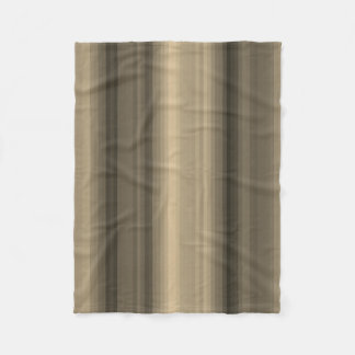 Coffee Chocolate Brown Stripe Line Tabby Pattern Fleece Blanket