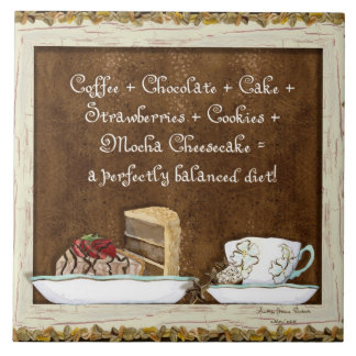 Coffee Chocolate Java Kitchen Art Dessert Cakes Tiles
