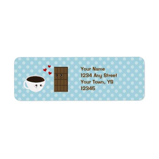 Coffee & Chocolate Love Return Address Label