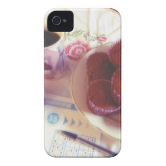 Coffee, chocolate muffins and reflection Case-Mate iPhone 4 cases